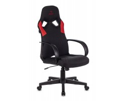 Кресло игровое Zombie RUNNER черный/красный текстиль/эко.кожа крестовина пластик