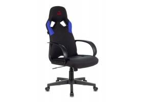 Кресло игровое Zombie RUNNER черный/синий текстиль/эко.кожа крестовина пластик