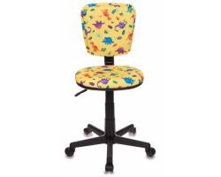 Кресло детское Бюрократ CH-204NX/DINO-Y желтый динозаврики