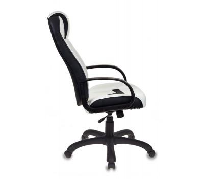 Кресло игровое Zombie Viking-8 белый/черный искусственная кожа крестовина пластик