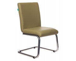 Кресло Бюрократ CH-250-V зеленый искусственная кожа полозья металл хром