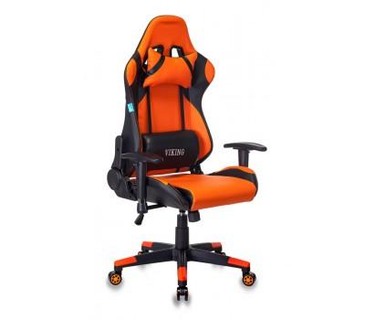 Кресло игровое Бюрократ CH-778N две подушки черный/оранжевый искусственная кожа