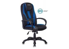 Кресло игровое Zombie VIKING-9 черный/синий искусст.кожа/ткань крестовина пластик