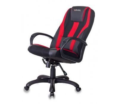Кресло игровое Zombie VIKING-9 черный/красный искусст.кожа/ткань крестовина пластик