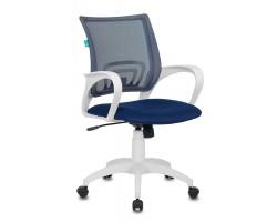 Кресло Бюрократ CH-W695N темно-синий TW-05N TW-10N сетка/ткань крестовина пластик пластик белый