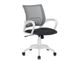 Кресло Бюрократ CH-W695N темно-серый TW-04 TW-12 сетка/ткань крестовина пластик пластик белый