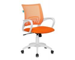 Кресло Бюрократ CH-W695N оранжевый TW-38-3 TW-96-1 сетка/ткань крестовина пластик пластик белый