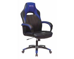 Кресло игровое Zombie VIKING 2 AERO черный/синий искусст.кожа/ткань крестовина пластик