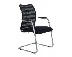Кресло Бюрократ CH-599AV черный TW-32K01 сиденье черный TW-11 сетка/ткань полозья металл металлик