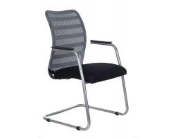 Кресло Бюрократ CH-599AV серый TW-32K03 сиденье черный TW-11 сетка/ткань полозья металл металлик