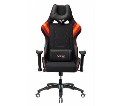 Кресло игровое Zombie VIKING 4 AERO черный/красный искусст.кожа/ткань с подголов. крестовина пластик
