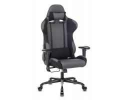 Кресло игровое Zombie 771N серый/черный с подголов. крестовина металл черный