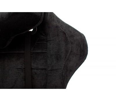 Кресло игровое Zombie VIKING KNIGHT Fabric черный Light-20 с подголов. крестовина металл