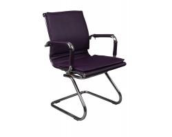 Кресло Бюрократ Ch-993-Low-V фиолетовый искусственная кожа низк.спин. полозья металл хром