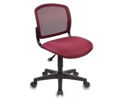 Кресло Бюрократ CH-296NX бордовый сиденье бордовый 15-11 крестовина пластик