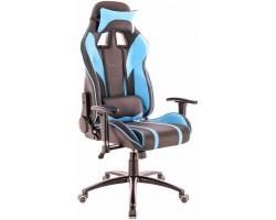 Кресло геймерское Everprof Lotus S16 экокожа голубой